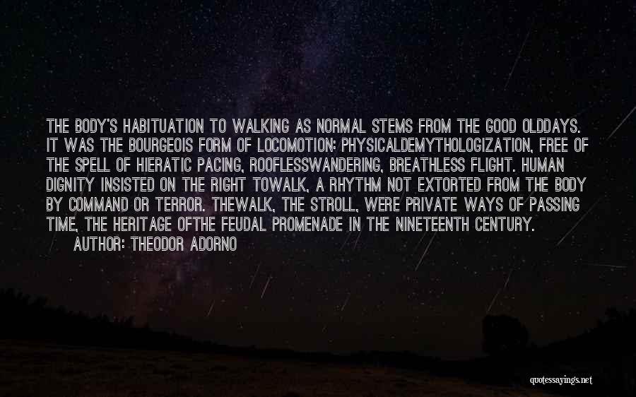Best Promenade Quotes By Theodor Adorno