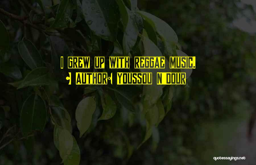 Best Reggae Music Quotes By Youssou N'Dour