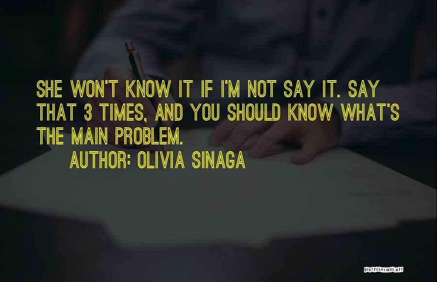 Best Relationship Problem Quotes By Olivia Sinaga