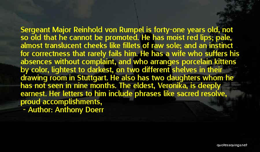 Best Sergeant Major Quotes By Anthony Doerr