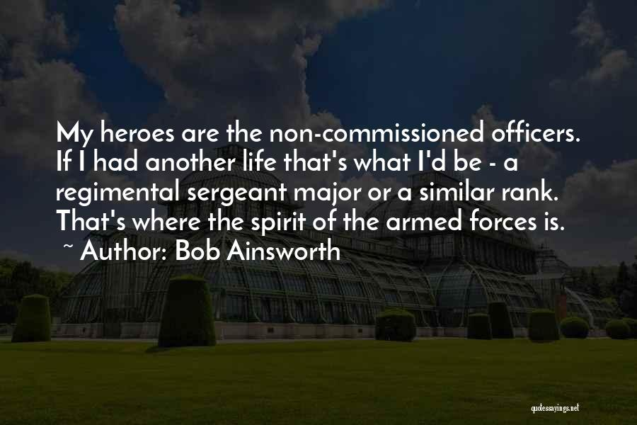 Best Sergeant Major Quotes By Bob Ainsworth