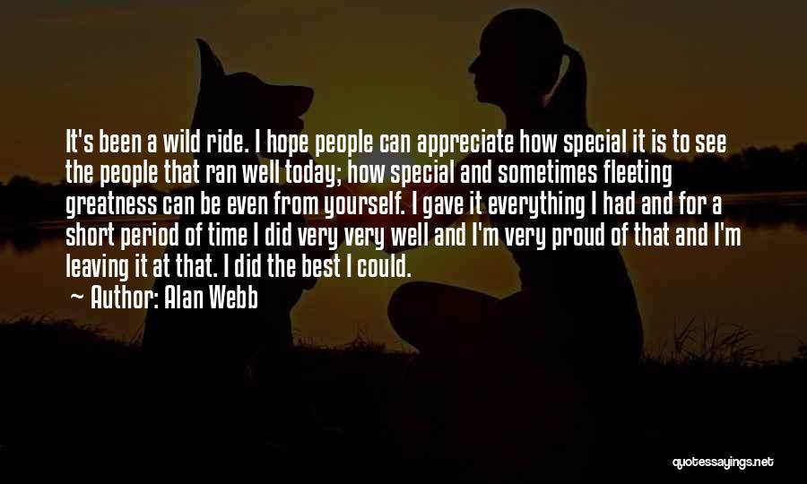 Best Short Athlete Quotes By Alan Webb