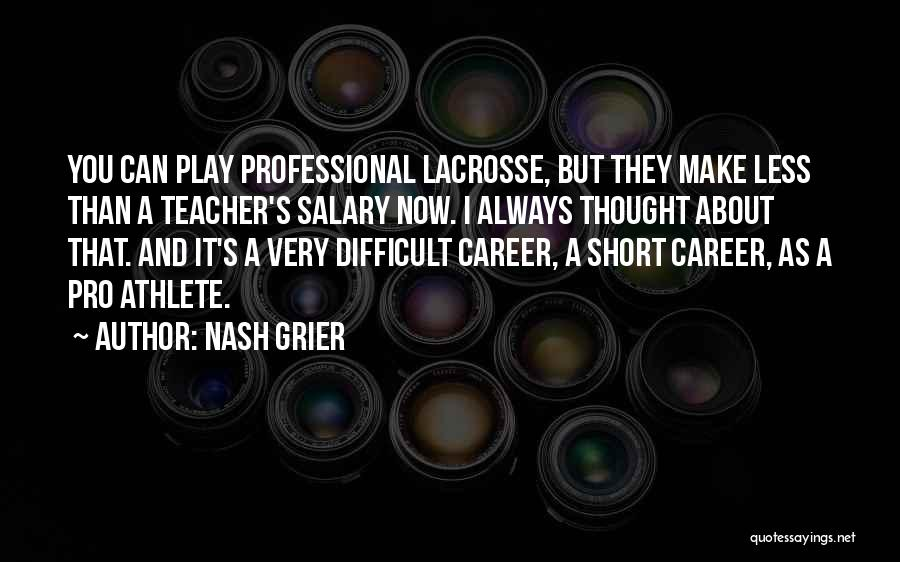 Best Short Athlete Quotes By Nash Grier