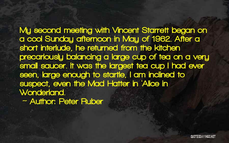 Best Short Cool Quotes By Peter Ruber