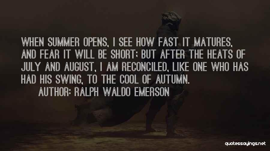 Best Short Cool Quotes By Ralph Waldo Emerson