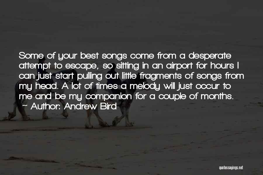 Best Song For Quotes By Andrew Bird