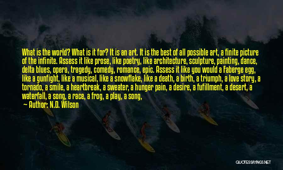 Best Song For Quotes By N.D. Wilson