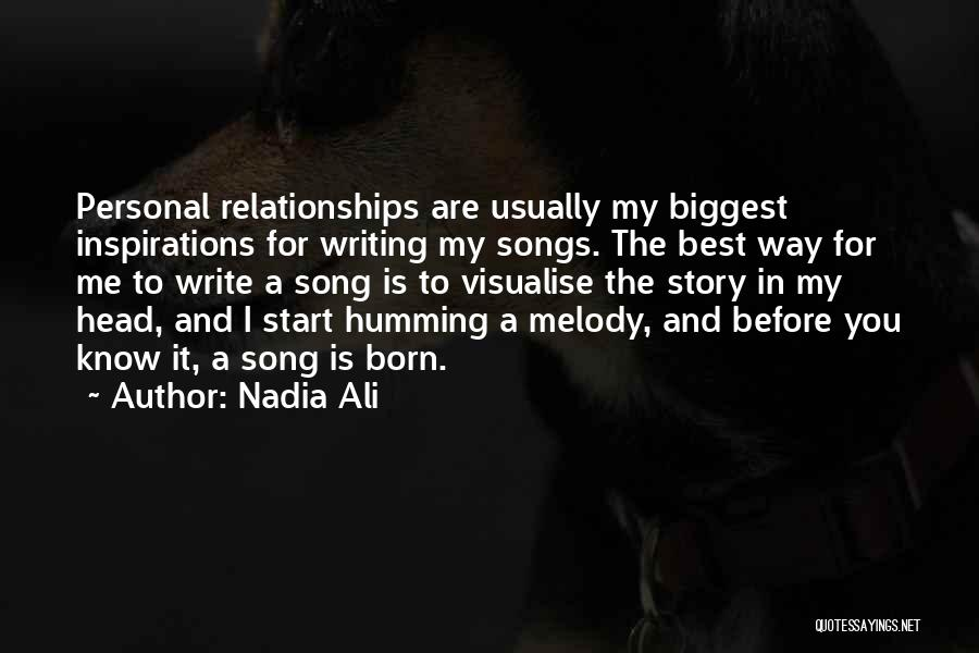 Best Song For Quotes By Nadia Ali