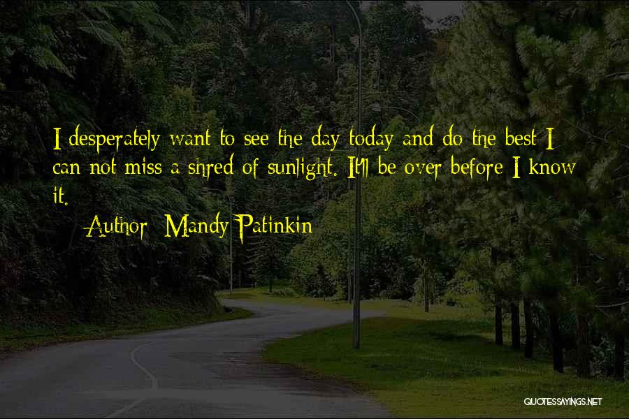 Best Sunlight Quotes By Mandy Patinkin