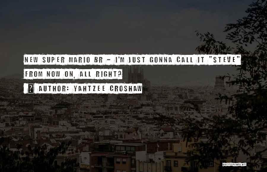 Best Super Mario Quotes By Yahtzee Croshaw
