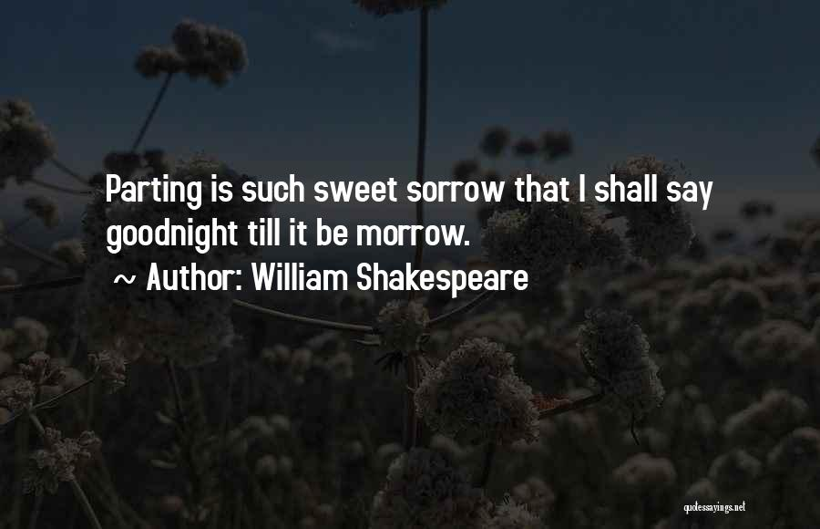 Best Sweet Goodnight Quotes By William Shakespeare
