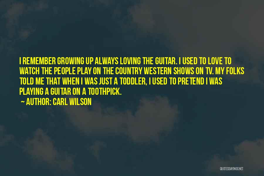 Best Toothpick Quotes By Carl Wilson