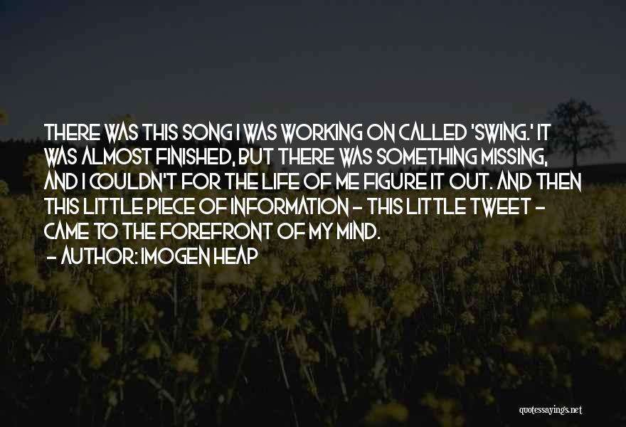 Best Tweet Quotes By Imogen Heap