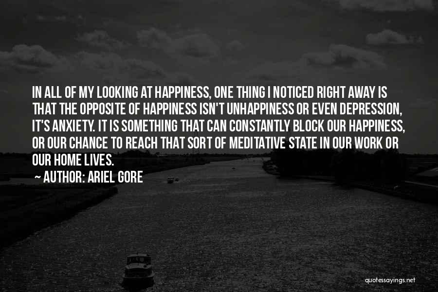 Best Unhappiness Quotes By Ariel Gore