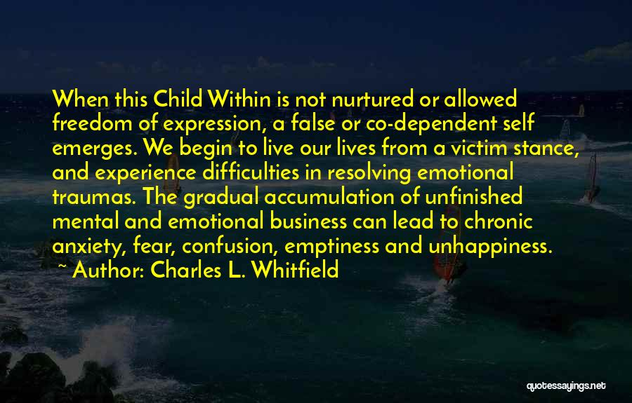 Best Unhappiness Quotes By Charles L. Whitfield