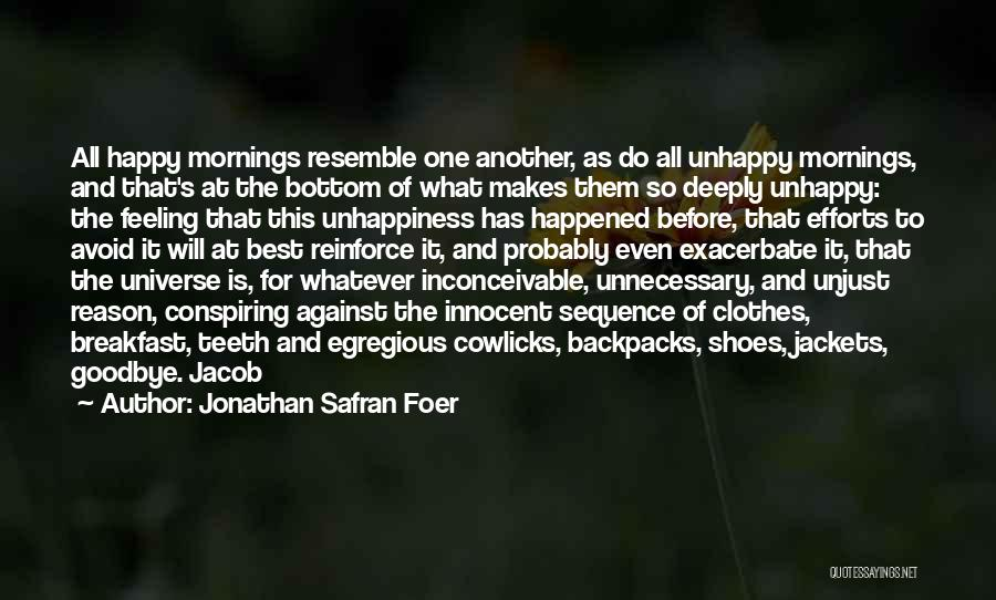 Best Unhappiness Quotes By Jonathan Safran Foer