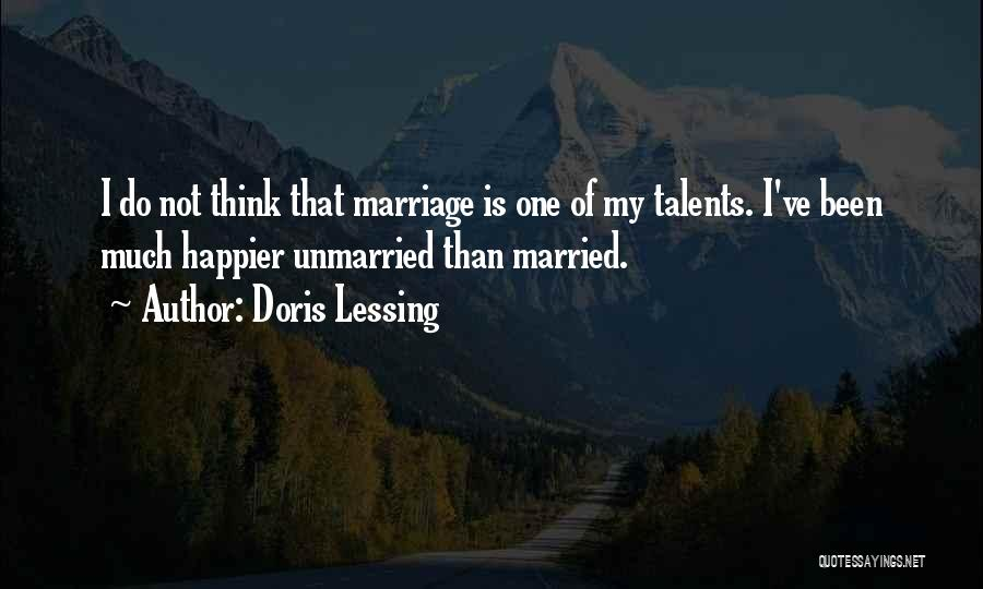 Best Unmarried Quotes By Doris Lessing