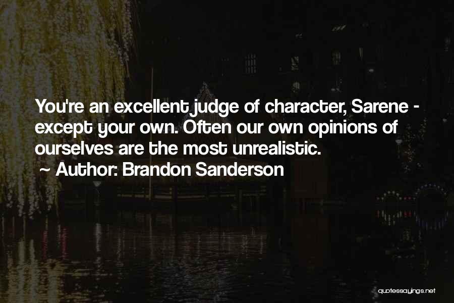 Best Unrealistic Quotes By Brandon Sanderson