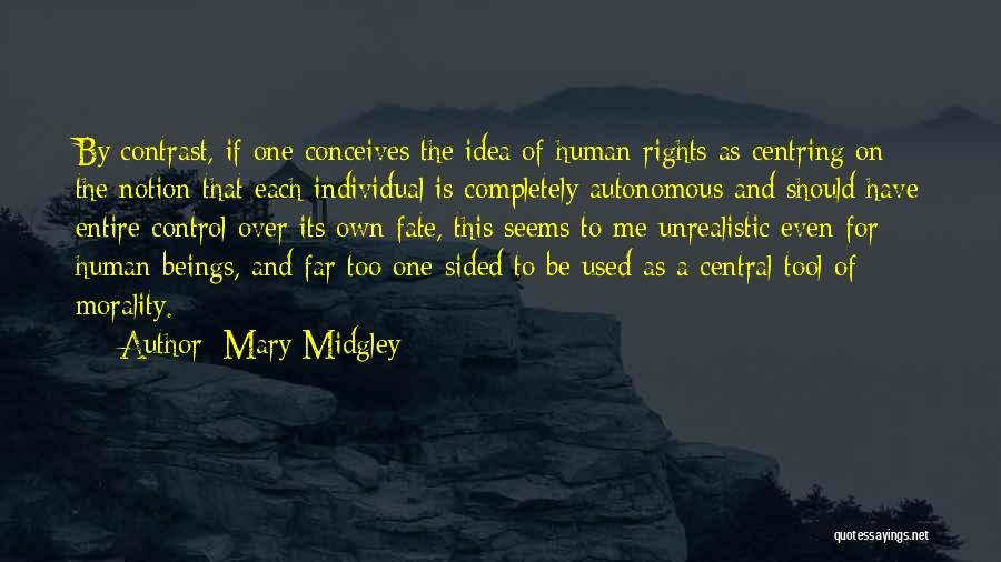 Best Unrealistic Quotes By Mary Midgley