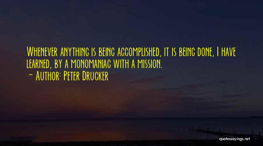 Best Vision And Mission Quotes By Peter Drucker