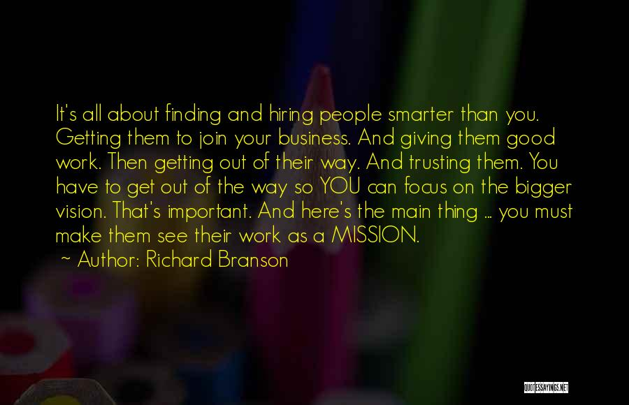 Best Vision And Mission Quotes By Richard Branson