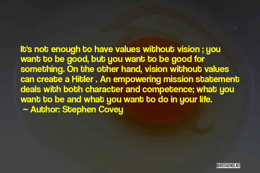 Best Vision And Mission Quotes By Stephen Covey