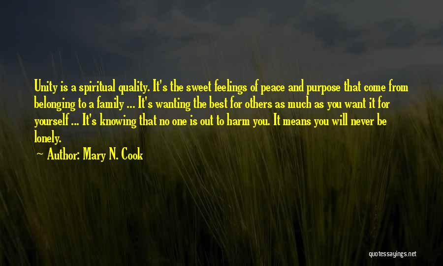 Best Wanting Quotes By Mary N. Cook