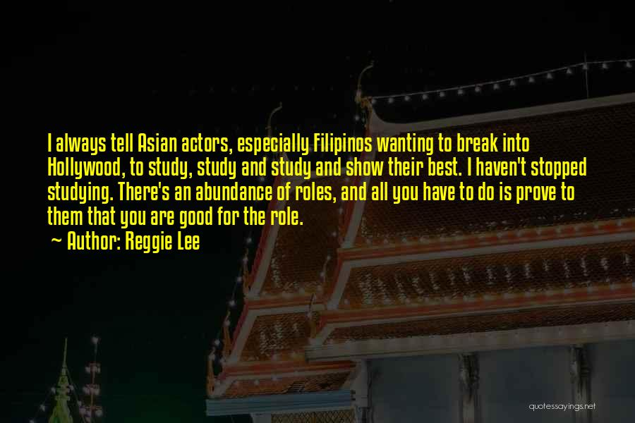 Best Wanting Quotes By Reggie Lee