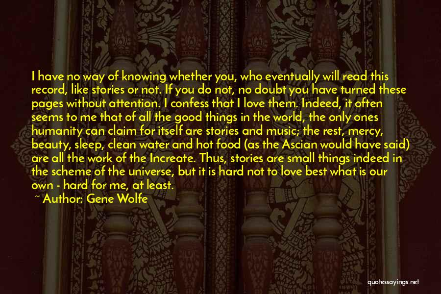 Best Way To Love Quotes By Gene Wolfe