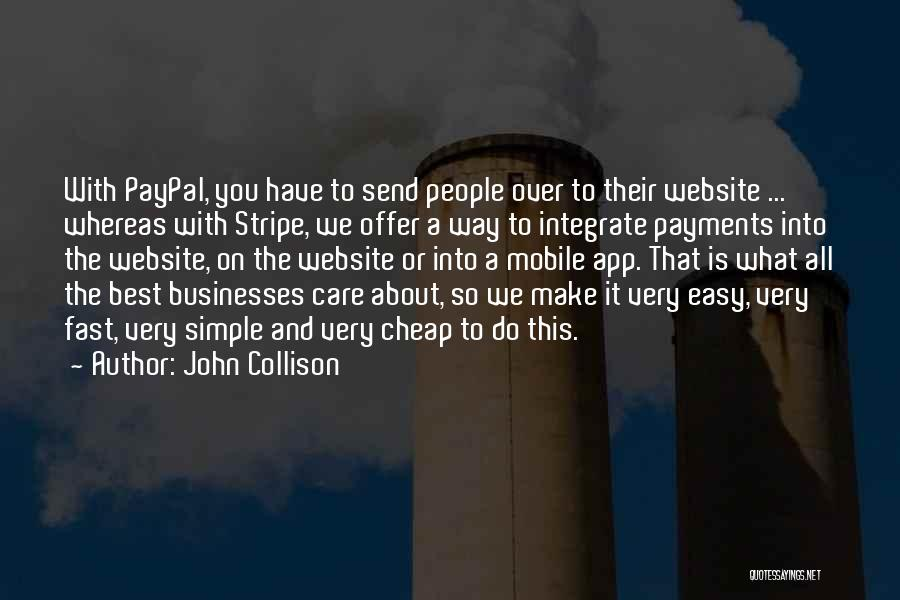 Best Website Quotes By John Collison