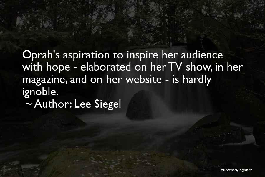 Best Website Quotes By Lee Siegel