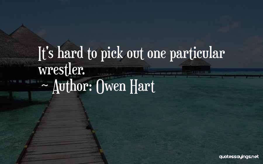 Best Wrestler Quotes By Owen Hart
