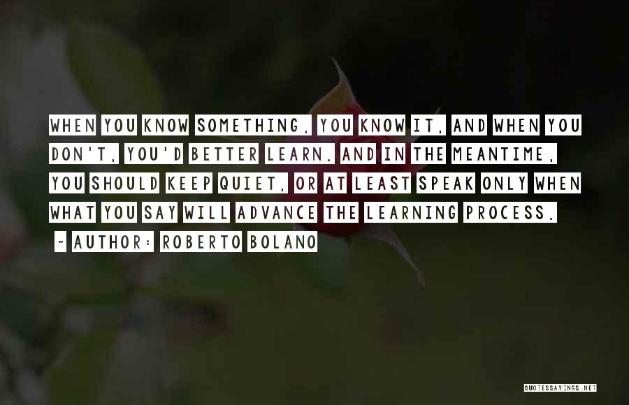 Better Keep Quiet Quotes By Roberto Bolano