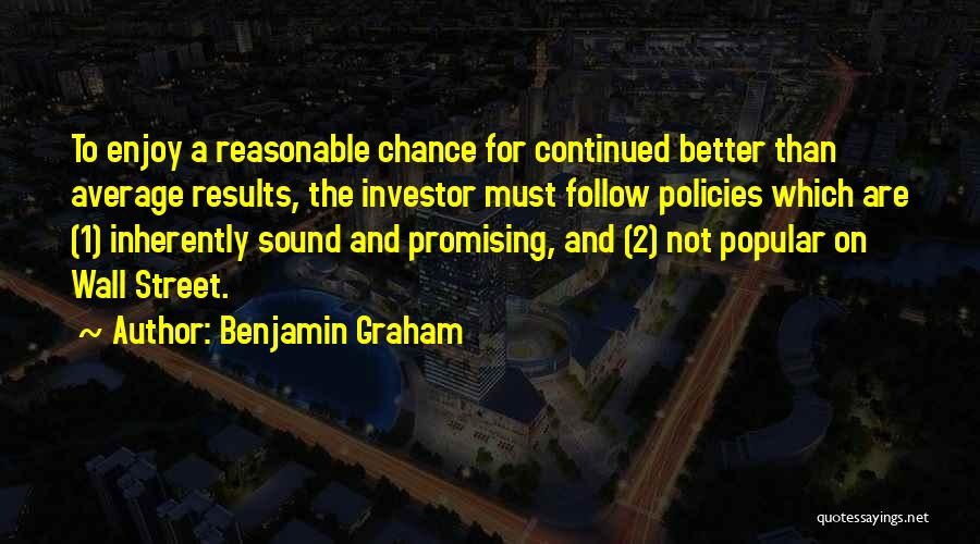 Better Than Average Quotes By Benjamin Graham