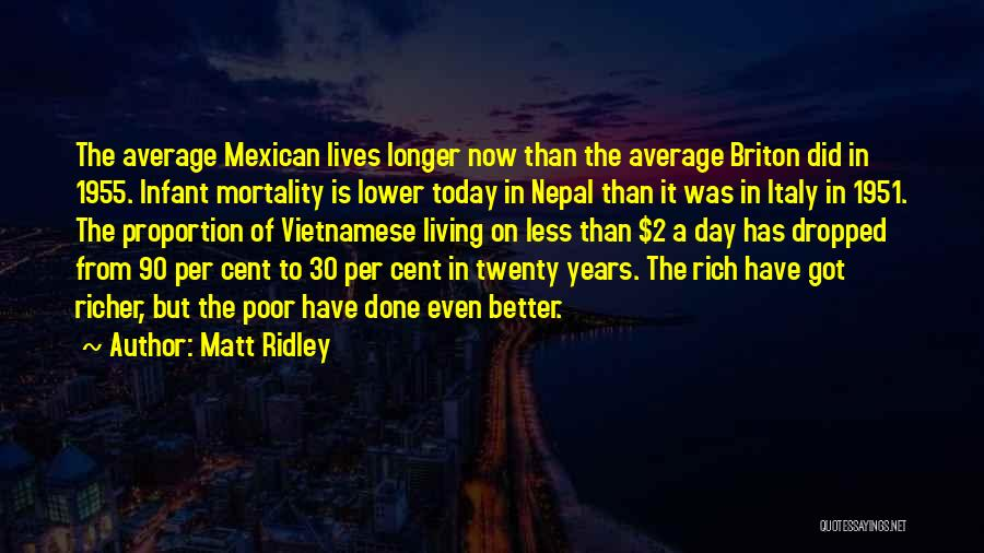 Better Than Average Quotes By Matt Ridley