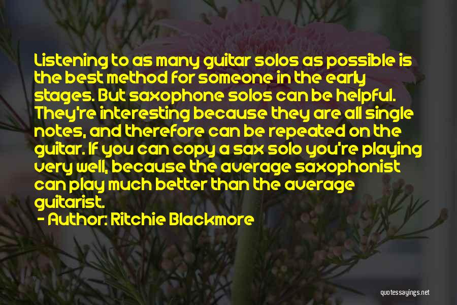 Better Than Average Quotes By Ritchie Blackmore