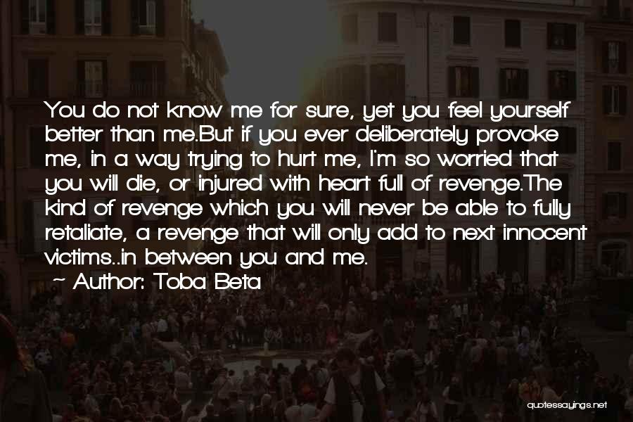 Better Than Revenge Quotes By Toba Beta