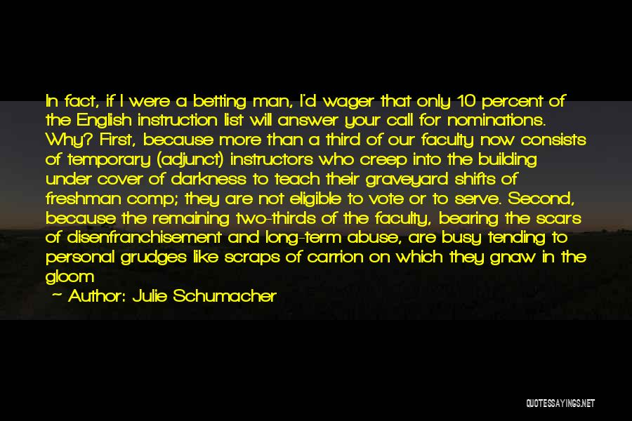 Betting Quotes By Julie Schumacher