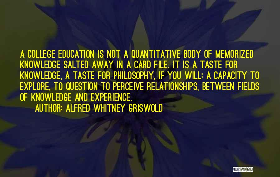 Between You And Me Card Quotes By Alfred Whitney Griswold