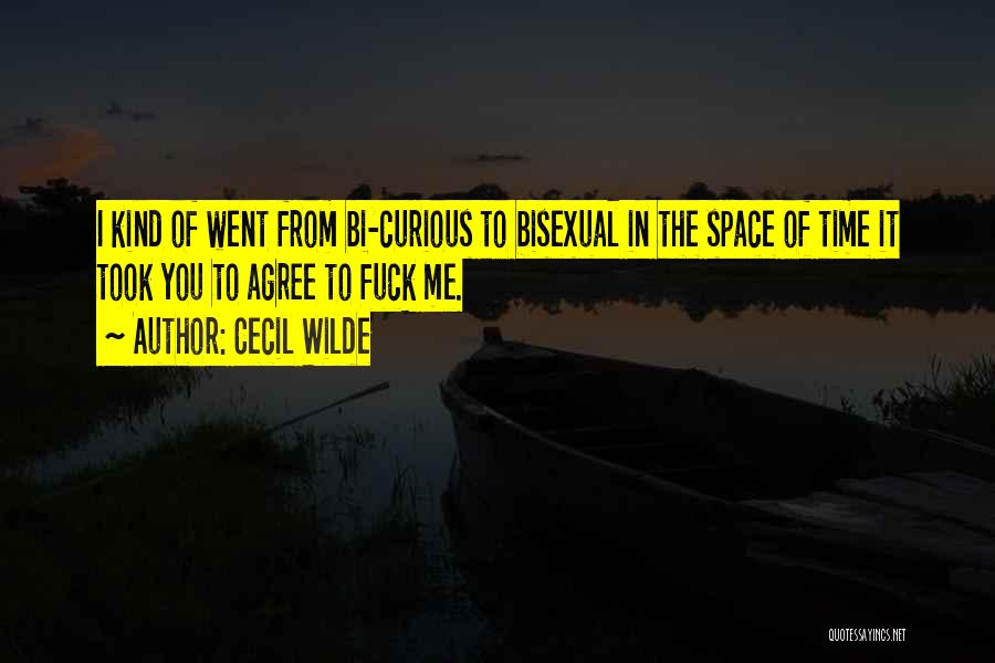 Bi Quotes By Cecil Wilde