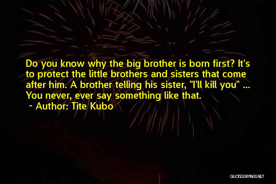 Big Brother Big Sister Quotes By Tite Kubo