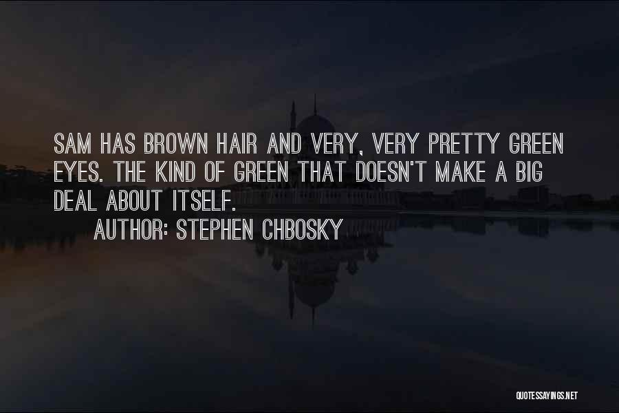 Big Brown Eyes Quotes By Stephen Chbosky
