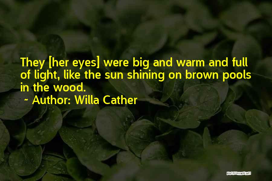 Big Brown Eyes Quotes By Willa Cather