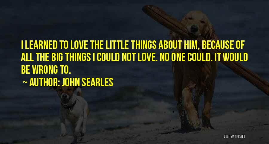 Big Little Love Quotes By John Searles