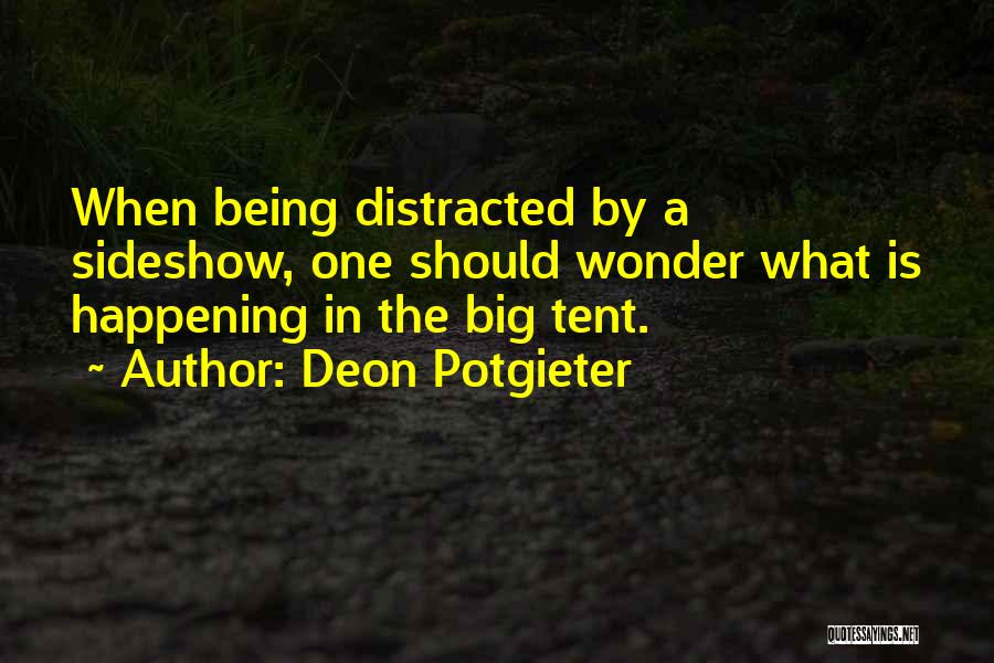 Big Things Are Happening Quotes By Deon Potgieter
