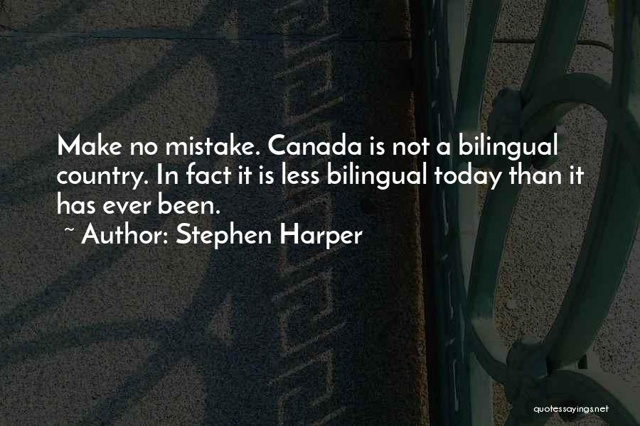 Bilingual Quotes By Stephen Harper