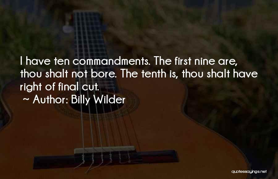 Billy Wilder Quotes 1994588