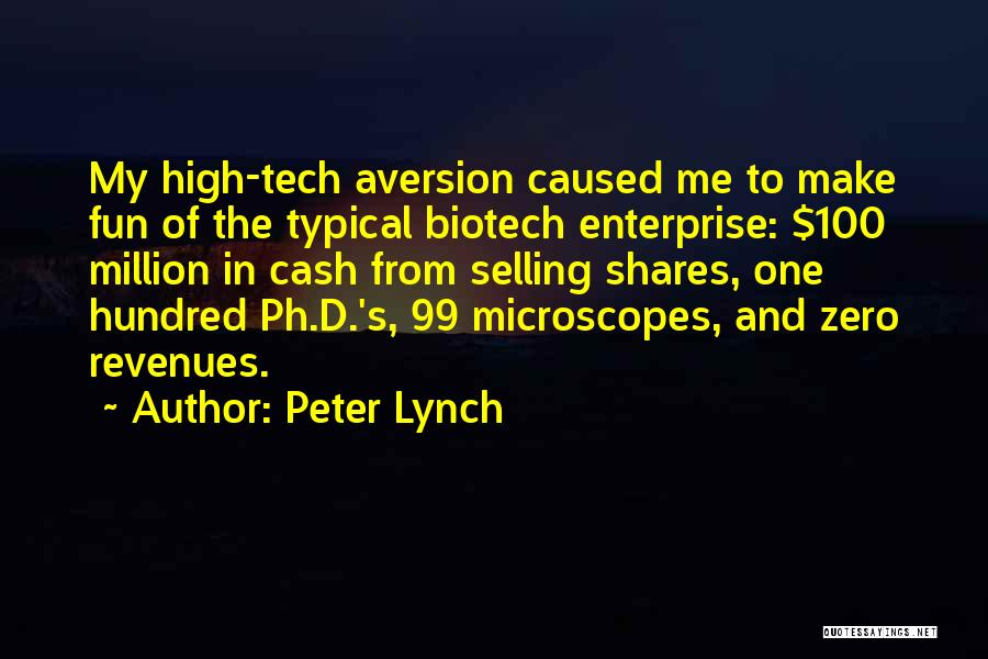 Biotech T-shirt Quotes By Peter Lynch