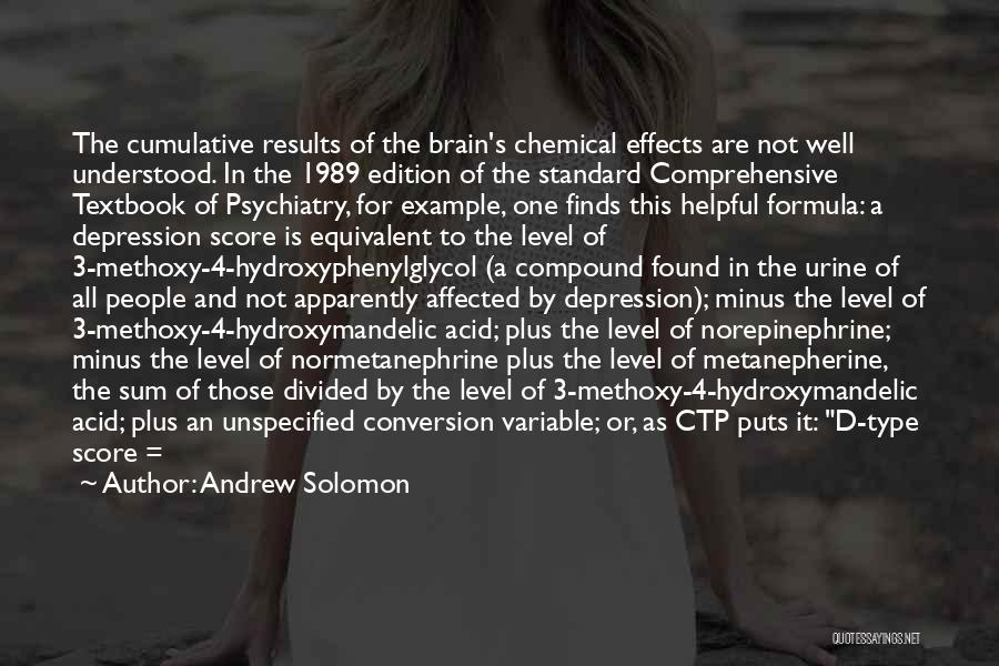 Bipolar Depression Quotes By Andrew Solomon