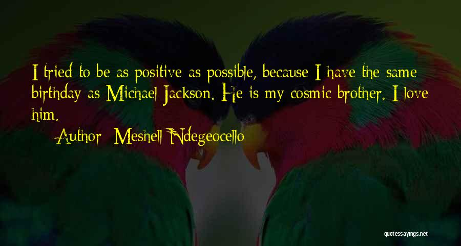 Birthday For Brother Quotes By Meshell Ndegeocello